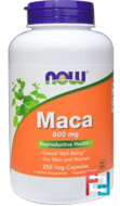 Maca, Raw, Now Foods, 500 mg, 250 Veggie Caps