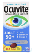 Eye Vitamin & Mineral Supplement, Adult 50+, Bausch & Lomb, 90 Soft Gels