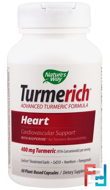 Turmerich, Heart, 400 mg, Nature's Way, 60 Plant-Based Capsules