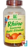Rhino Gummy Multi-Vitamin, Nutrition Now, 190 Gummy Bears