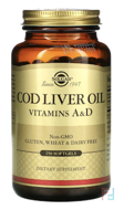Cod Liver Oil, Vitamin A & D, Solgar, 250 Softgels