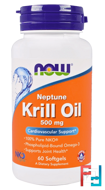 Neptune Krill Oil, 500 mg, Now Foods, 60 Softgels