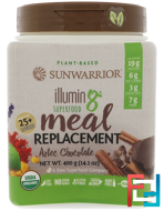 Illumin8, Plant-Based Organic Superfood Meal Replacement, Aztec Chocolate, Sunwarrior, 14.1 oz (400 g)
