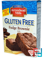 Gluten Free, Fudge Brownie Mix, Arrowhead Mills, 17.5 oz (496 g)