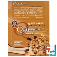 Oatmeal Chocolate Chip, Quest Nutrition, QuestBar, Protein Bar, 12 Bars, 2.1 oz (60 g) Each