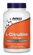L-Citrulline, Now Foods, 750 mg, 180 Capsules
