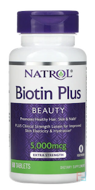 Biotin Plus with Lutein, Natrol, 60 Tablets