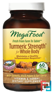 Turmeric Strength for Whole Body, MegaFood, 60 Tablets