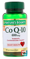 Co Q-10, Maximum Strength, Cardio Q10, Nature's Bounty, 400 mg, 39 Softgels
