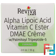 Alpha Lipoic Acid, Vitamin C Ester & DMAE Cream, Reviva Labs, 2 oz, 55 g