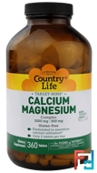 Target-Mins, Calcium-Magnesium Complex, Country Life, 360 Tablets