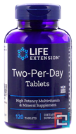 Two-Per-Day Tablets, Life Extension, 120 Tablets