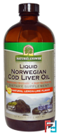 Liquid Norwegian Cod Liver Oil, Natural Lemon-Lime Flavor, Nature's Answer, 16 fl oz (480 ml)