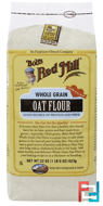 Whole Grain Oat Flour, Bob's Red Mill, 22 oz (623 g)