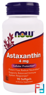 Astaxanthin, Now Foods, 4 mg, 90 Softgels