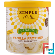 Organic, Vanilla Frosting with Coconut Oil, Simple Mills, 10 oz (283 g)