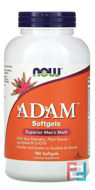Adam, Superior Men's Multi, Now Foods, 180 Softgels