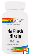 No Flush Niacin, 500 mg, Solaray, 100 Vegetarian Capsules