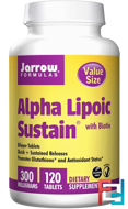Alpha Lipoic Sustain, with Biotin, Jarrow Formulas, 300 mg, 120 Tablets