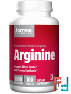 Arginine,  Jarrow Formulas, 1000 mg, 100 Tablets