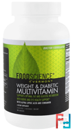 Weight & Diabetic Multivitamin, FoodScience, 90 Caplets