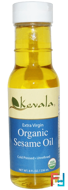 Extra Virgin Organic Sesame Oil, Kevala, 8 fl oz (236 ml)