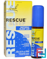 Original Flower Remedies, Rescue Sleep, Natural Sleep Aid Spray, Bach, 0.7 fl oz, 20 ml