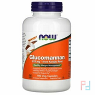 Glucomannan, Now Foods, 575 mg, 180 Capsules