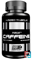 PurCaf, Caffeine, Kaged Muscle, 100 Veggie Caps