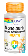 Monolaurin, Solaray, 500 mg, 60 veg caps