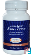 Derma Klear Akne • Zime, Skin Health, Enzymatic Therapy, 90 Capsules