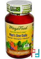 Men's One Daily, Iron Free, MegaFood, 60 Tablets