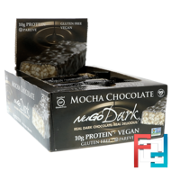 NuGo Dark, Protein Bars, Mocha Chocolate, NuGo Nutrition, 12 Bars, 1.76 oz (50 g) Each