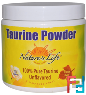 Taurine Powder, Nature's Life, 335 g