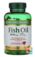 Fish Oil, Nature's Bounty, 1000 mg, 145 Rapid Release Softgels
