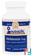 Melatonin, NutraLife, 1 mg, 240 Easy Chew Tablets