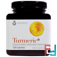 Turmeric, Youtheory, 120 Tablets
