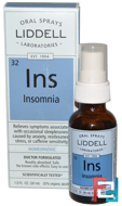 Ins, Insomnia, Oral Spray, Liddell, 1 fl oz (30 ml)