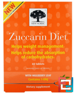 Zuccarin Diet, New Nordic US Inc, 60 Tablets