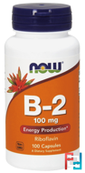 B-2, 100 mg, Now Foods, 100 Capsules