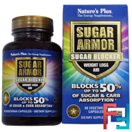 Sugar Armor, Sugar Blocker, Weight Loss Aid, Nature's Plus, 60 Veggie Caps