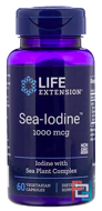Sea-Iodine, Life Extension, 1000 mcg, 60 Veggie Caps