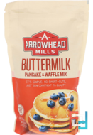 Natural Buttermilk, Pancake and Waffle Mix, Arrowhead Mills, 26 oz (737 g)