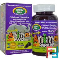 Source of Life, Animal Parade, Sugar Free Children's Chewable, Natural Grape Flavor, Nature's Plus, 90 Animals