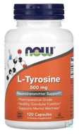 L-Tyrosine, Now Foods, 500 mg, 120 Capsules