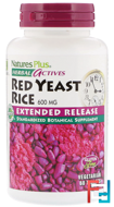 Red Yeast Rice, Herbal Actives, Nature's Plus, 600 mg, 60 Tablets