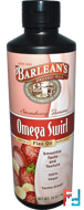 Omega Swirl, Flax Oil, Strawberry Banana, Barlean's, 16 oz, 454 g
