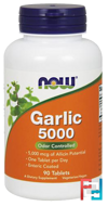 Garlic 5000, Now Foods, 90 Tablets