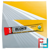 Bloks Energy Chews, Ginger Ale, Clif Bar, 18 Packets, 2.12 oz (60 g) Each