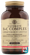 Ultimate B+C Complex, Solgar, 90 Tablets